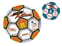 Lopta 23 cm transparentné dizajn futbal - mix variantov či farieb