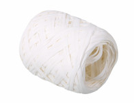 Stuha RAFIA vajíčko bílá šířka 12,5mm délka 20m