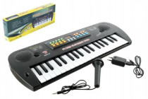 Piánko / Organ / Klávesy plast s mikrofónom + adaptér 37 klávesov 50cm - VÝPREDAJ