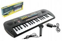 Piánko/Varhany/Klávesy plast s mikrofonem + adaptér 37 kláves 50cm