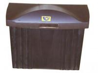 schránka poštová plastová, 320x360x135mm, nová - mix farieb