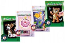 Korálkový obrázok s doplnkami na karte 23x32cm - mix variantov či farieb