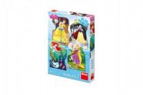 Puzzle Disney princezny 4x54 dielikov 13x19cm