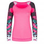 Spokey BALLS, fitness triko. dlouhý rukáv, růžové, vel. M