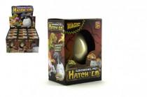 Vajcia liahnuce a rastúce dinosaurus 6cm v krabičke 7x11x5 v