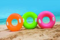 Kruh nafukovací s úchyty 76cm - mix barev