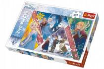 Puzzle Frozen / Ľadové kráľovstvo koláž 260 dielikov 60x40cm