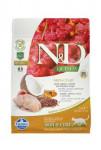 N & D GF Quinoa CAT Skin & Coat Quail & Coconut 300g