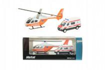 Vrtuľník + auto ambulancie kov
