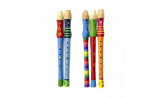 Flauta maľované drevo 33cm - mix variantov či farieb