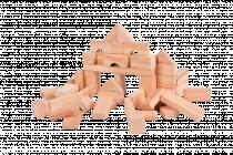 Kostky dřevěné přírodní 50 ks