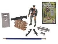 Voják 11 cm s doplňky - mix variant či barev