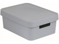 box úložný INFINITY 36,3x27x13,8cm s vekom, plastový, ŠE