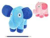 Slon plyšový - mix barev