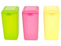 dóza s klick uzáverom 1,6l obdĺžniková vysoká plastová - mix farieb