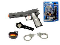 Sada policajný - pištole 20 cm Klapač + 3 doplnky