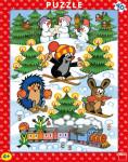 Doskové Puzzle Krtko na snehu 40 d.