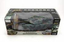 Tank RC plast 33cm M1A2 27MHz na baterie+dobíjecí pack se zvukem a světlem