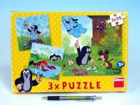 Puzzle Krtek a kalhotky 18x18cm 3x55 dílků
