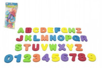 Pěnová písmena a číslice do vany