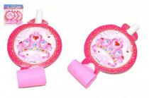 Frkačky papírové růžové karneval