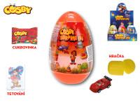 Cosby Surprise egg 12 cm s překvapením - cukrovinka, hračka a tetovačka - 12 ks - mix variant či barev