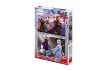 Puzzle 2v1 Ľadové kráľovstvo II / Frozen II 2x77dílků