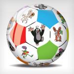 Míč fotbalový Krtek 230 mm