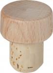 Zátka T drevená prírodné priemer 18,5mm (top 30 mm)