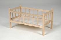 Postieľka drevená pre bábiky