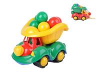Auto nákladné 34 cm s loptičkami - mix farieb
