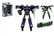 Transformer auto / robot polícia plast 17cm - mix farieb
