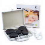 Lávové masážne kamene, sada 8 ks v samonahrievacím kufríku, HOT STONES, Catmotion