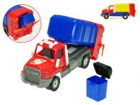 Auto smetiari 28 cm voľný chod s smetiakom - mix farieb