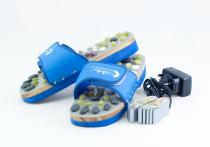Vyhrievané masážne papuče s prírodnými kameňmi, modrej, CatMotion Velikost XL (42, 43), 27 cm - VÝPREDAJ