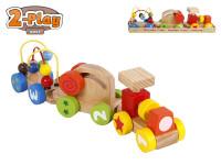 Vláčik s vagóniky 34 cm drevený 2-Play