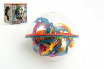 Hlavolam Bludiště 3D koule 138 kroků plast 17cm