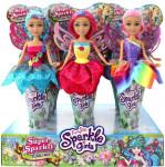 Víla Sparkle Girlz kvetinová s krídlami v kornútku