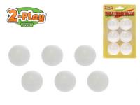 Loptičky na stolný tenis 2-Play 6 ks