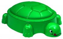 Pískoviště želva tmavě zelené s víkem