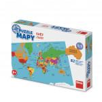 Puzzle 82 dielikov mapy svet