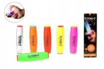 Fidget Turbo Tumbler plast 9cm antistresový váleček na baterie se světlem - mix variant či barev