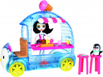 Enchantimals zmrzlinový vozík s tučňákem