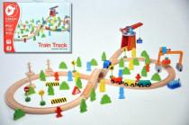 Vlak dřevo s dráhou + doplňky