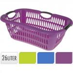 koš na čisté prádlo 68x46x25cm plastový - mix barev