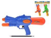Vodní pistole plast 33cm s pumpou - mix barev