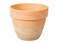 Květník LEVANTE keramický béžový melír 21x18cm