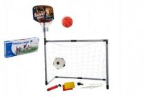 Sada basketbal a fotbal 2v1 plast