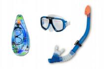 Potápěčská sada brýle+šnorchl na kartě 22x50cm