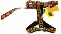 Postroj nylon popruh Guard - červeno/černý Manmat vel. XS - krk 46 cm